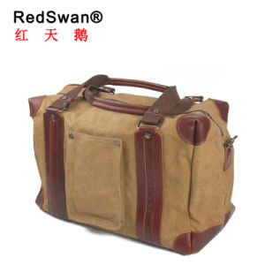Real Cowhide Leather Canvas Traveling Duffel Man Bag (RS-8900) pictures & photos