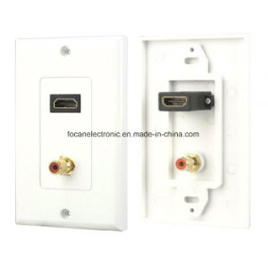 Us Decora Style HDMI/RCA Wall Plate pictures & photos