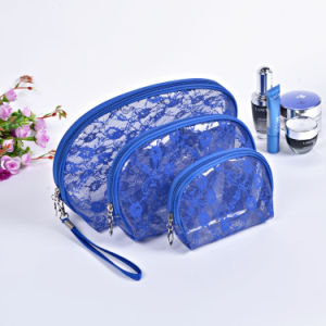 3PCS/Set Fashion Transparent Waterproof PVC Professional Travel Custom Makeup Bag pictures & photos