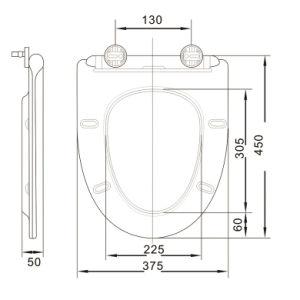 Jet-1002 Factory Economic V Shape Plastic Toilet Seat pictures & photos