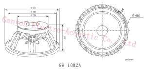 """Gw-1802A, 18""""-1000W Subwoofer, 4"""" Voice Coil, Loudspeaker pictures & photos"""