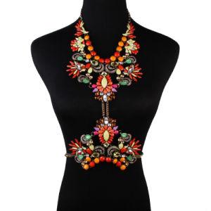 Fashion Designer Rhinestone Crystal Diamond Flower Body Jewelry pictures & photos