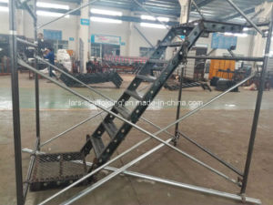 Scaffolding Steel Staircase/Stairways with Guardrail for Construction pictures & photos