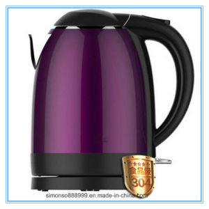 High Quality Purple Color Stainless Steel Electric Kettle with Scale Mark pictures & photos