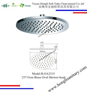 B. OA2315 Oval Shape Brass Shower Head Chrome Plated in 23*15cm pictures & photos