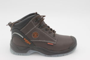 Professional Split Embossed Leather Safety Work Shoes pictures & photos