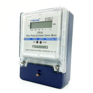 Dds-6L Single Phse Two Wire Watt Hour Meter Blue pictures & photos