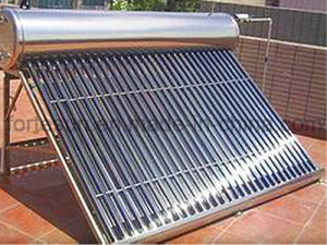 Stainless Steel Gravity Non Pressure Vacuum Tube Solar Water Heater pictures & photos
