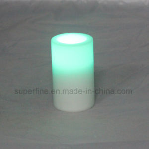 Cute Flameless Color Changing Christmas Outdoor Wedding Decorative Luminary Candle pictures & photos