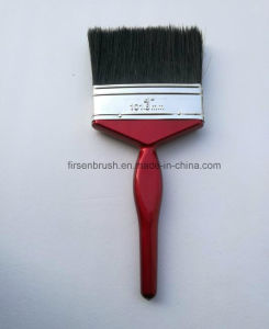 Kaiser Style Black Bristle Paint Brush with Varnished Red Plastic Handle pictures & photos