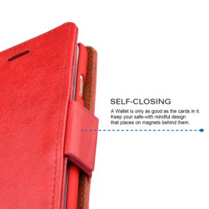 iPhone 6 Plus Case [Detachable Wallet Folio] [2 in 1] [Premium Vegan Leather] iPhone 6s Plus Wallet Case pictures & photos