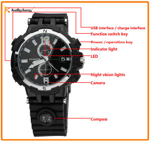 720p HD WiFi Watch Remote Monitor Camera Watch pictures & photos