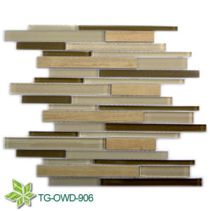 Brown Strip Glass Mixing Tiles/ Mozaic Tiles (TG-OWD-906) pictures & photos