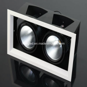 Double Heads LED Grille Lamp 2*12W COB LED Downlight pictures & photos