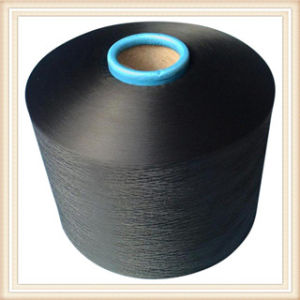 Polyester Dope Dyed Black Yarn pictures & photos