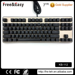 Backlit USB Wired Desktop 87 Keys Mechanical Keyboard pictures & photos