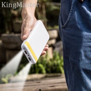 Kingmaster Powerpack 20000 Portable Charger High-Speed-Charging Power Bank (White) LED pictures & photos