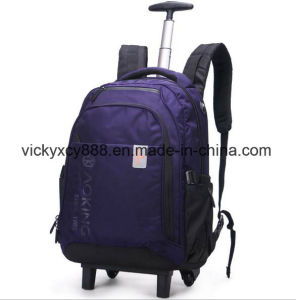 Wheeled Trolley Double Shoulder Outdoor Travel Computer Notebook Backpack (CY3718) pictures & photos