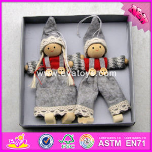 2017 New Products Baby Cartoon Christmas Wooden Dolls for Girls W02A230 pictures & photos
