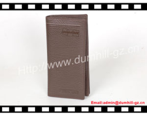 Classical Real Leather Material Men Slim Purse Long Wallet for Business pictures & photos