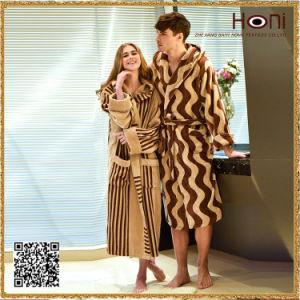 100% Cotton Couple Bathrobe, Stripe Couple Bathrobe pictures & photos