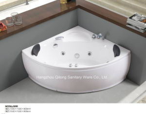 Fashionable Corner Air Jet Bathtub with Apron for Two Person pictures & photos
