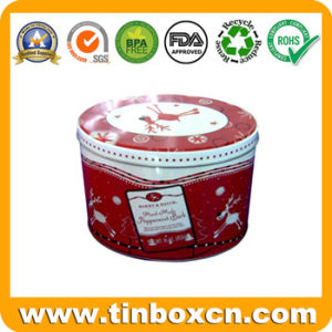 Round Cookie Tin Container, Food Storage Box, Biscuit Tin Can pictures & photos