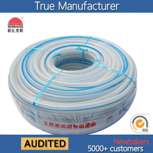 PVC Braided Reinforced Fiber Water Hose (KSA 16198SSG Clear) 50 Yard  Pictures U0026