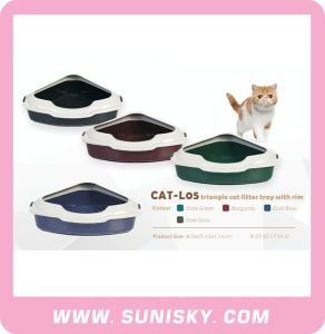Triangle Cat Litter Box Cat Litter Try Cat Accessories pictures & photos