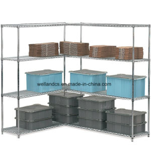 NSF 4 Tiers Chrome Steel Tube Storage Rack for 60 Countries Customers pictures & photos
