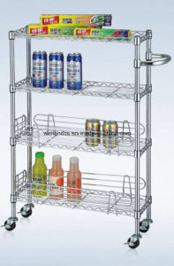 Multi-Purpose 3 Tiers Steel Drinks Trolley with NSF Approval pictures & photos
