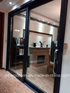 Guangdong Woodwin Hot Seller Double Tempered Glass Aluminium Sliding Door (YS-120A) pictures & photos