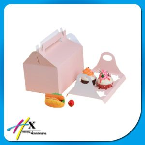 Custom Design Cake Dessert Paper Packaging Box with Handle pictures & photos