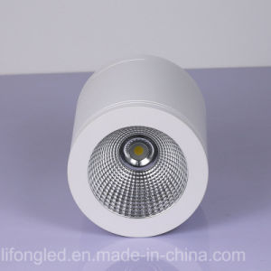 12W LED COB Surface Mounted Downlight with Silver, White pictures & photos