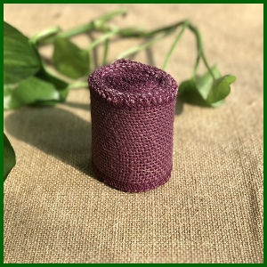 Colored Jute Burlap Cloth Roll (Purple) pictures & photos
