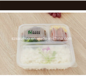 Top Grade Thicken 3 Compartment Disposable Plastic Food Box pictures & photos