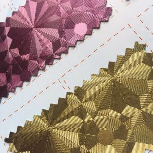 Glitter PU Leather with Hot Melt Glue for Clothing Bags Labels Hx-0737 pictures & photos