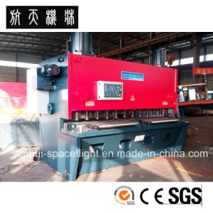 CNC Hydraulic Swing Beam Shearing and Cutting Machine QC12k 40X5000 pictures & photos