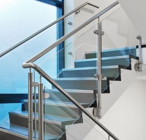Indoor and Outdoor 304 316 Stainless Steel Glass Stair Railing pictures & photos