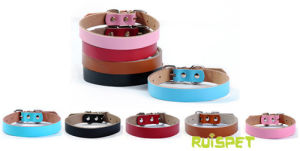 Simple Design Wholesale Soft Leather Dog Collar pictures & photos