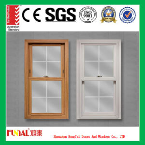 Aluminum Alloy Double Hung Window with Fly Screen pictures & photos