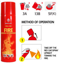 M1 (MSJ-500) 11 High-Efficiency 500ml Afff Foam Aerosol Types of Fire Extinguishers pictures & photos