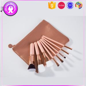 8PCS Luxury Rose Gold Cosmetic Brushes OEM and ODM Accept pictures & photos