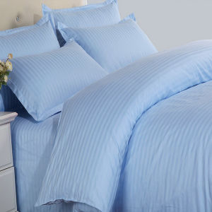 High Quality Satin Stripe Colored Poly/Cotton Bedding Set Customized Design pictures & photos