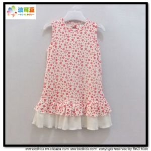 Plain Pink Baby Clothes Sleeveless Baby Dress pictures & photos