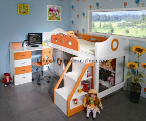 Loft Bed with Chest Swivel Desk pictures & photos