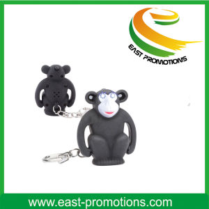 Cartoon and Small Cute LED Flashlight Keychain pictures & photos