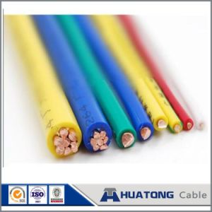 China Manufacturer 1.5mm Copper Core PVC Insulated Solid Single Electrical Wire pictures & photos