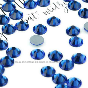 Ss6 Ss8 Ss10 Ss12 Czech Crystal Bead Non Hotfix Glass Stone (FB-sapphire) pictures & photos