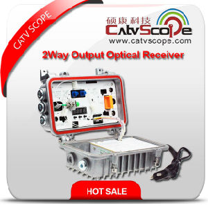 High Performan Reasonalbe Price Field/Outdoor 2way Output Fiber Optical Receiver/Node